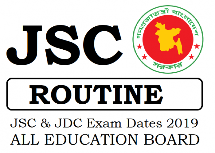 JSC Routine 2019 All Edu Board Grade 8 Exam Dates